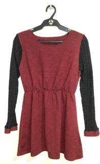 Cashmere red dress