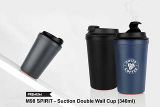 Wholesale SPIRIT - Suction Double Wall Cup (340ml)