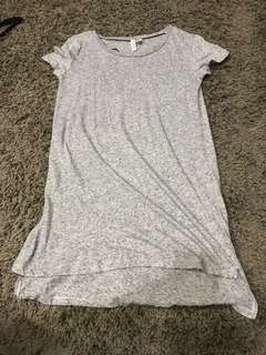 h&m grey speckled tee shirt dress