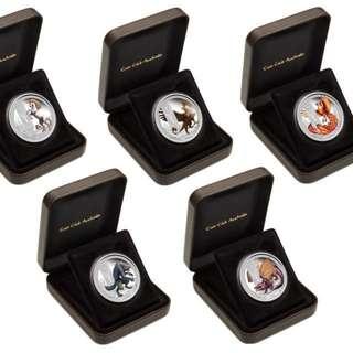 Mythical Creatures Collection $1 1oz 5 Silver Coin Set