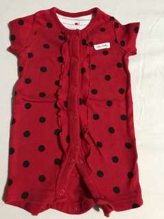 Mother Care  Baby Bug Romper Red