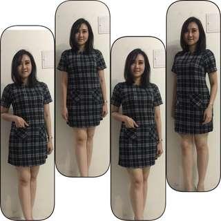 Dress rajut big size fit to L