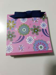 Small notebook with ribbon