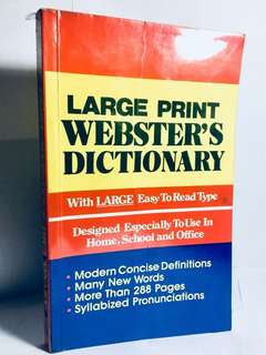 Large Print Webster's Dictionary