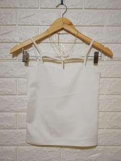 Plain white sexy halter top
