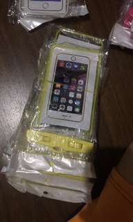 Yellow Waterproof Case with Black Strap