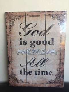 Large sized God is Good Wooden Wall Decor