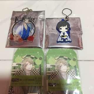 Tsukipro Otsukimi Kuji Prize C Acrylic Keyholder and Prize D Rubber strap