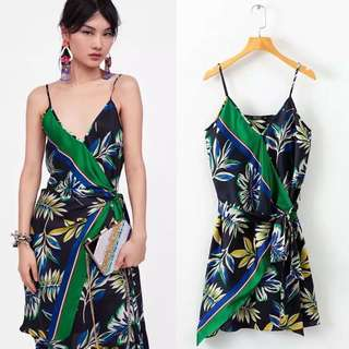 Inspired Zara Printed Camisole Strappy Flowing Dress