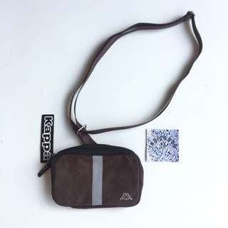 Kappa Brown Suede 3M Reflective Waist Pouch Bag