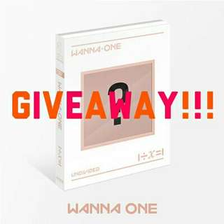 WANNA ONE UNDIVIDED ALBUM GIVEAWAY