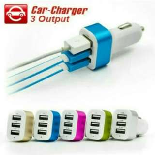 Charger mobil 3usb