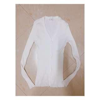 白色直間開胸外套