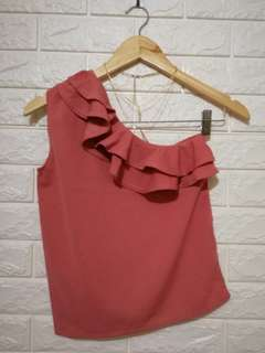 Plain Pink venus cut casual or formal top