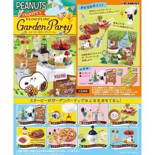 日本進口 snoopy 花園派對 盒裝收藏