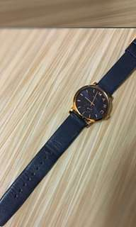 💯real Marc Jacobs Navy Leather Watch