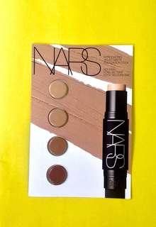 NARS Velvet Matte Foundation Stick Sample Card