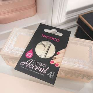 💚 FREE GIFT WITH ANY PURCHASE • Incoco perfect accent nail polish strips • nail art