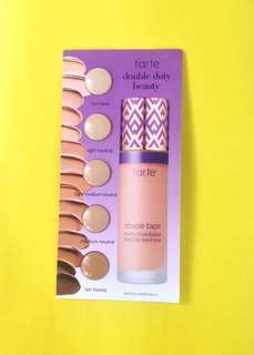 Tarte Shape Tape Matte Foundation Sample Card