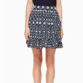 Kate Spade Eyelet Wrap Skirt in Navy