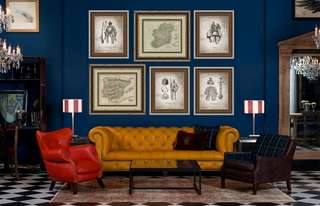 2.5m (W) X 1.9m (H) Map + Armour Wall Art/ Feature Wall (Vintage Frame)
