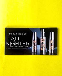 Urban Decay All Nighter Liquid Foundation Sample Card