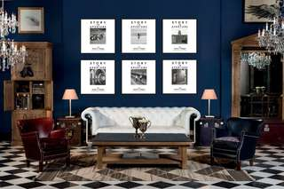 2m (W) X 1.5m (H) Story in Aperture Wall Art/ Feature Wall Vintage Frame)