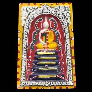 Phra Somdej with 19 real gold takrut by Luang Phor Koon - Wat Ban Rai - B.E.2537 - Thai Amulet