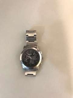 Agnes b女裝黑底地球錶