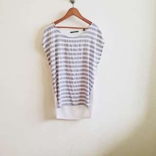 ESPRIT Stripe Nautical Cotton Top (XS)