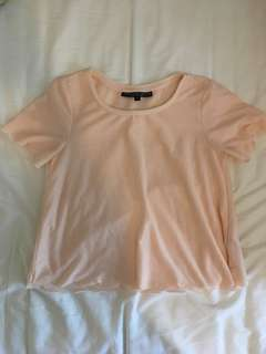 Topshop light pink scalloped shirt