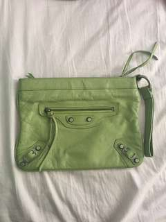 Balenciaga Green Clutch