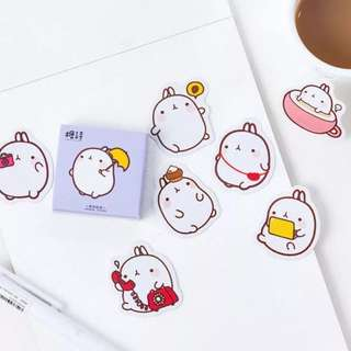 [IN] [ST] Boxed Stickers: Molang Rabbit (#BOS-286)