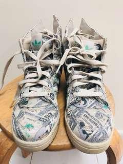 Jeremy Scott x Adidas Wings 2.0 Money US5.5 *全新 *有盒