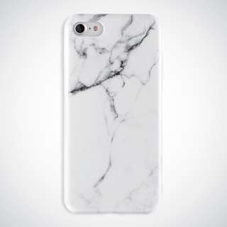 iPhone 7/8 Cellphone Case (IMD) | White Marble Flexible Silicone Case
