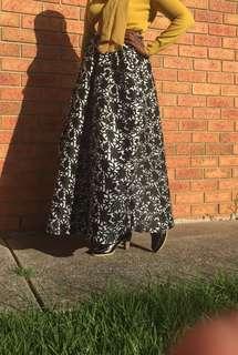 High waist puff skirt