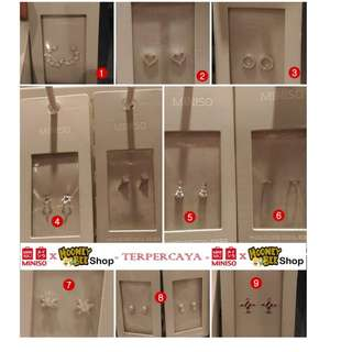 Japan Quality - anting tusuk silver asli 925 motifs MINISO