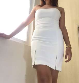 Zara white tube dress
