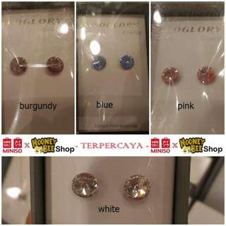 Japan Quality - Anting Swarovski Silver 925 Miniso Diamond