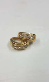 Real Gold and Diamond Earrings