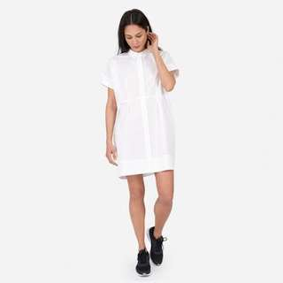 Everlane Cotton Poplin Square Shirt Dress in White
