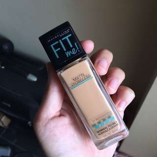 Maybelline fit me foundation matte in 322 warm honey