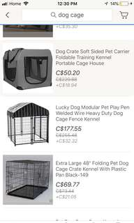 Im looking for cage for puppy