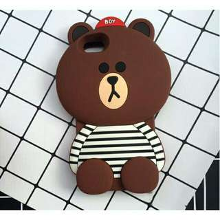 Bear stripes phone case