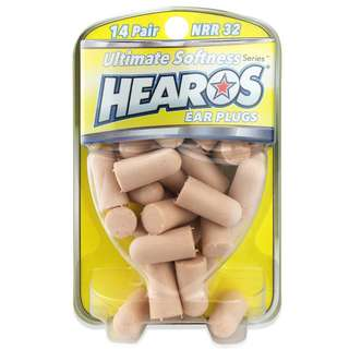 Hearos Ultimate Softness Ear Plug 14 Pairs Suitable for Sleeping with Noise Reduction Rating 32 Decibels (Postage Included)