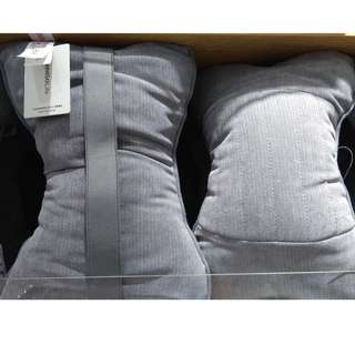 Japan Quality - Bantal Kursi Bisnis / Mobil Tekstur Miniso Bone Shaped