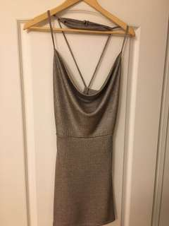 Daylight silver choker mini dress