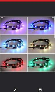 Usb multi colour led strip with control