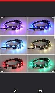 Usb multi colour led strip with control