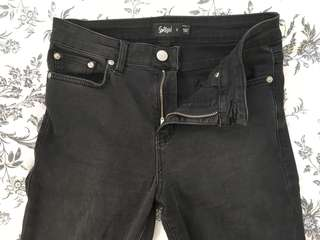 Sports girl High waisted black stretch jeans